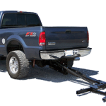 Ford truck has a wheel lift installed on it