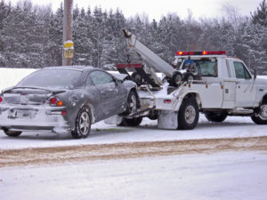 tow truck towing a vehicle