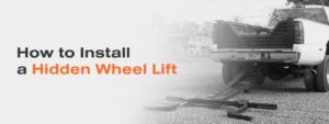 Pickup truck that had wheel lift installed