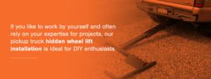 DIY wheel lift installation