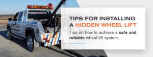 Top tips for hidden wheel lift installation