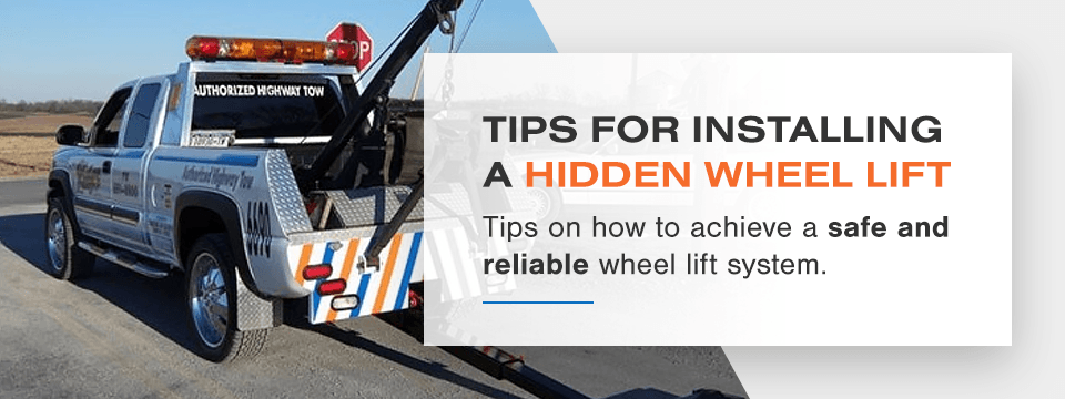 Top tips for hidden wheel lift installation